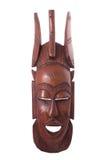 Wooden mask. Isolated on white Stock Image