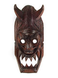 WOODEN MASK WITH HORNS  Royalty Free Stock Photo