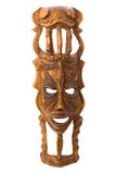 Wooden mask isolated. On white Royalty Free Stock Photos