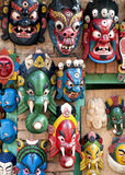Wooden Mask for Sale in Nepal. Stock Photography