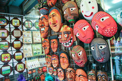 Wooden mask shop. In Korea Stock Photography
