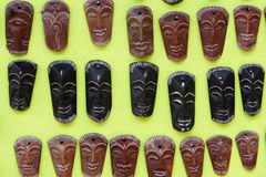Wooden masks Stock Image
