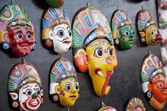Wooden Masks, Bhaktapur, Nepal Royalty Free Stock Photos