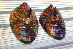 Wooden masks Stock Image