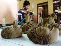 Wooden masks Stock Photos