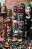 Wooden masks from Nepal Royalty Free Stock Photos