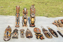 Wooden masks, Papua New Guinea Stock Photography