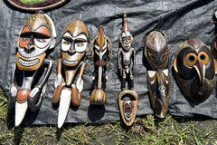 Wooden masks, Papua New Guinea Stock Image