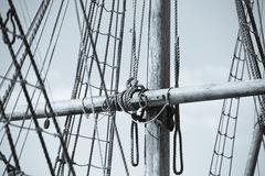 Free Wooden Mast, Rigging And Ropes Of Old Sailing Boat Stock Images - 85760514