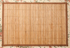 Wooden mat Stock Image