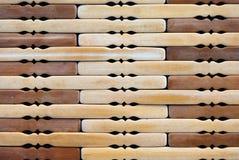 Wooden mat, macro Royalty Free Stock Images