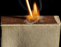The wooden match Royalty Free Stock Photo