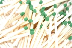 Wooden match sticks Royalty Free Stock Images