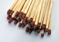 With wooden matchsticks Royalty Free Stock Images