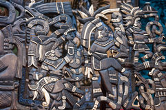 Wooden Mayan souvenirs at Chichen Itza Royalty Free Stock Images