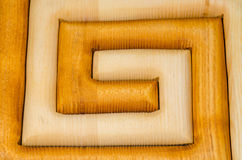 Wooden Maze Royalty Free Stock Photo