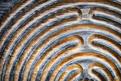 Wooden maze Royalty Free Stock Image