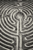 Wooden maze Stock Image