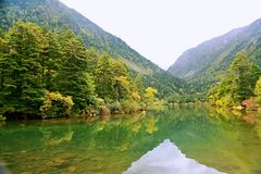 Wooden measure. Mu Ge (full name: Kangding love song Mu Ge scenic area), is located in the middle of the Gongga mountains, from Sichuan, Kangding, the Royalty Free Stock Photos