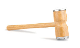 Wooden meat hammer Royalty Free Stock Images