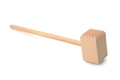 Wooden meat mallet Royalty Free Stock Images