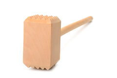 Wooden meat mallet Stock Images