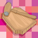 Kitchen wooden hammer and cutting board Royalty Free Stock Photo