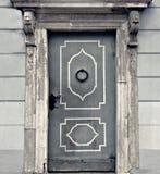 Wooden mediaeval door in Riga, Latvia Stock Photography