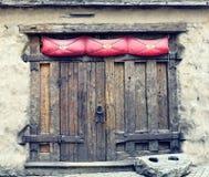 Wooden mediaeval door in Riga, Latvia Stock Photos