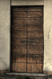 Wooden medieval door Royalty Free Stock Photo