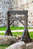 Wooden medieval torture device Stock Photos