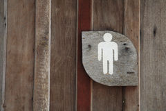 Wooden Men Toilet Sign Royalty Free Stock Images