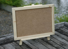 Wooden menu board Royalty Free Stock Image