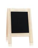 Wooden menu board Stock Image