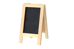 Wooden menu board on white background with clipping path Royalty Free Stock Photos