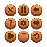 Wooden Menu Buttons Royalty Free Stock Image