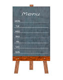 Wooden menu display Sign, Frame restaurant message board, Isolated on white background. Stock Photography