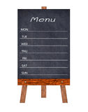 Wooden menu display Sign, Frame restaurant message board, Isolated on white background. Wooden menu display Sign, Frame restaurant message board, Isolated on royalty free stock photos