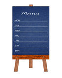Wooden menu display Sign, Frame restaurant message board, Isolated on white background. Royalty Free Stock Images