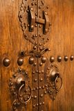 Wooden and metal doors. Stock Photos