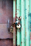 Wooden and Metal Gates Royalty Free Stock Photos