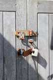Wooden and Metal Gates Stock Photos