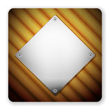 Wooden metal icon Royalty Free Stock Images