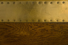 Wooden and metal texture Stock Image