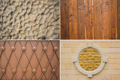 Wooden, Metal and tiles texture Royalty Free Stock Photo