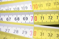 Wooden meter Stock Image