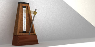 Wooden metronome Royalty Free Stock Photography