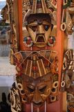 Wooden Mexican masks Royalty Free Stock Photo
