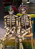 Wooden Mexican Skeletons Stock Photos