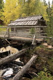 Wooden mill stock photography